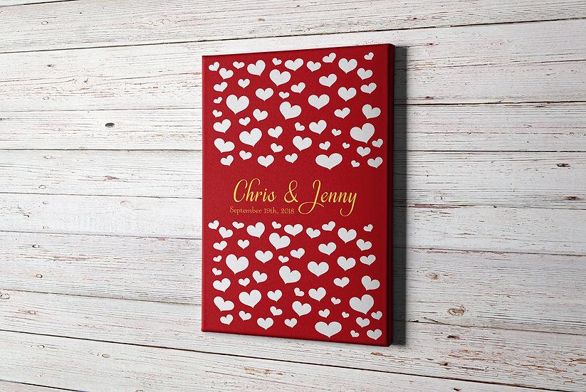 Wedding Guest Book Alternative Sign on Canvas