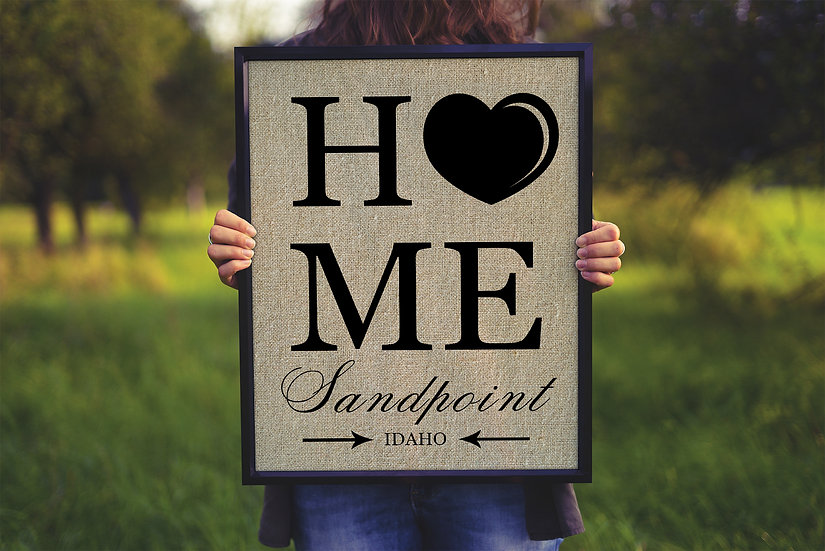 Housewarming Gifts For Couple, Home Sign On Burlap