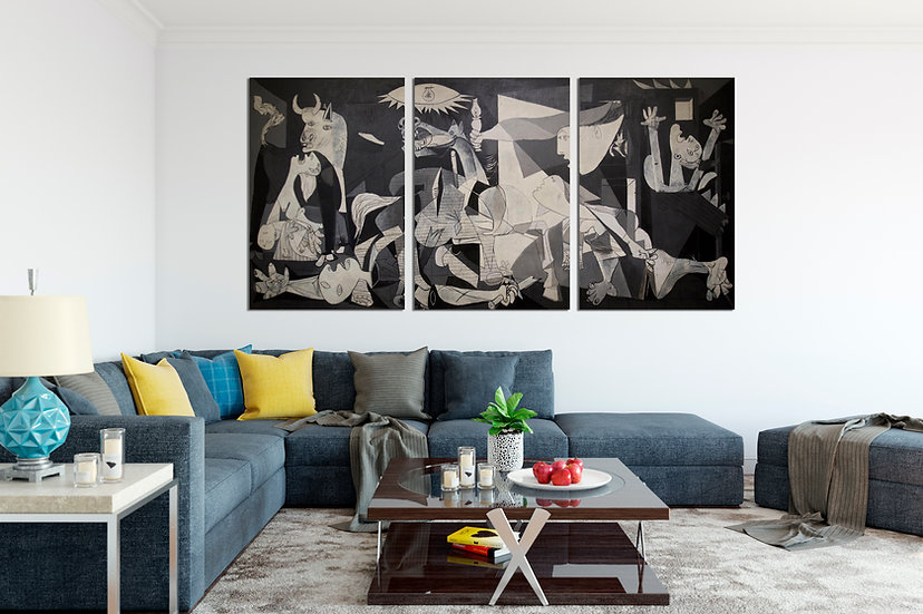 Spain Guernica by Pablo Picasso Large Wall Art Canvas Print