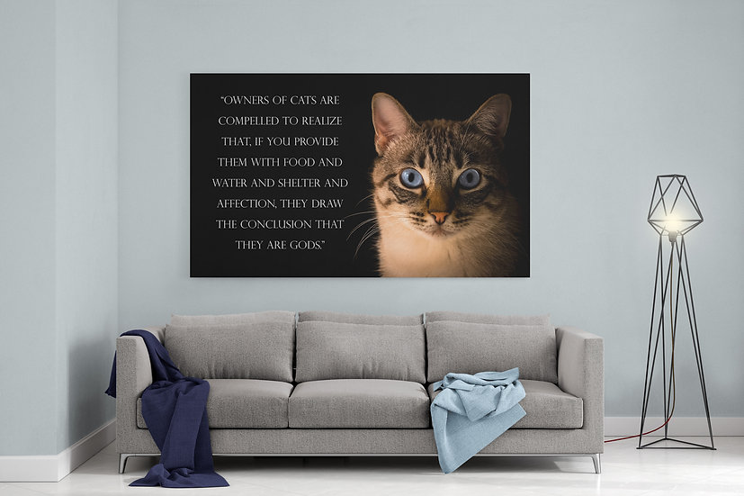 Custom Cat Portrait With Cat Poem To Canvas