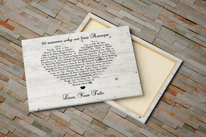 Personalized Gift For Grandma, Reasons We Love You