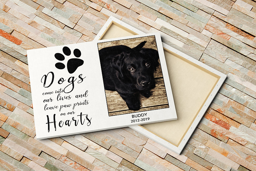 Personalized Pet Bereavement Gifts With Photo On Canvas