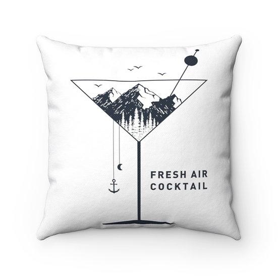 Minimalist Fresh Air Cocktails Spun Polyester Square Pillow