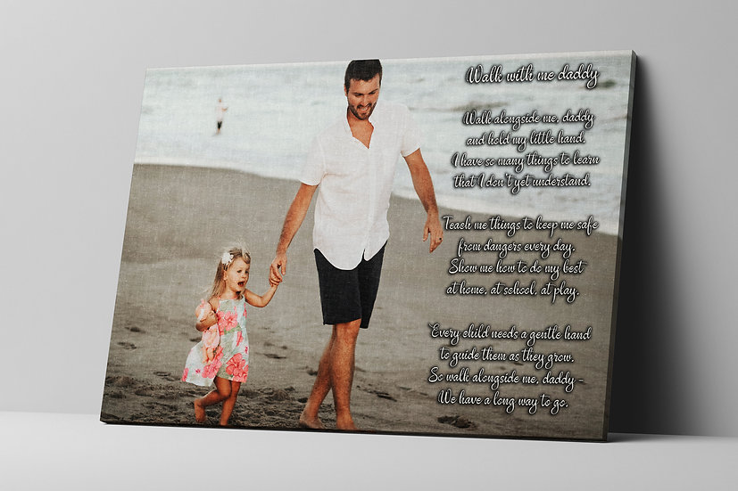 Fathers Day Gift Ideas Print On Canvas, Wall Art Quotes