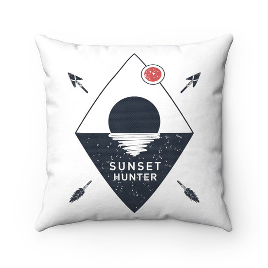 Sunset Hunter Spun Polyester Square Pillow