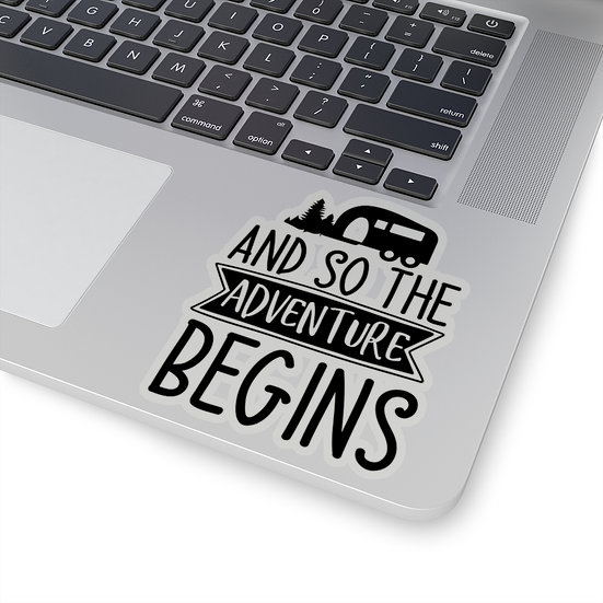 And So The Adventure Begins Kiss-Cut Stickers