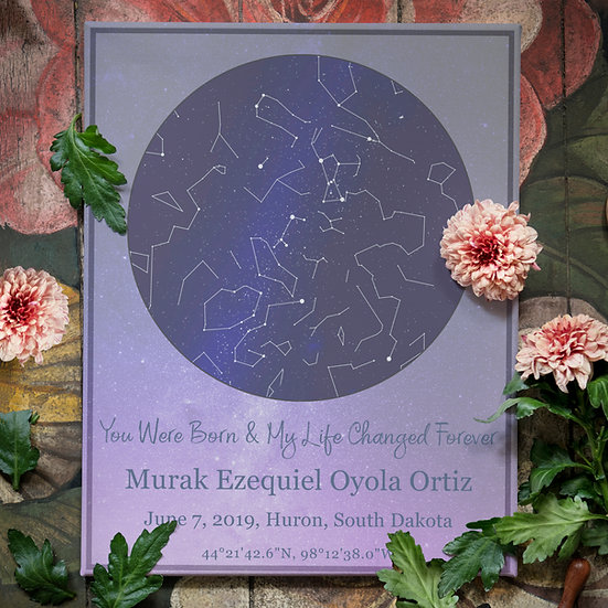 Personalized Night Sky Star Map Gift For Mother's Day