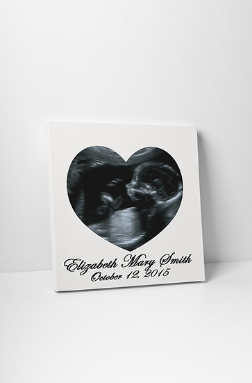Personalized Rainbow Baby Announcement Ultrasound Art