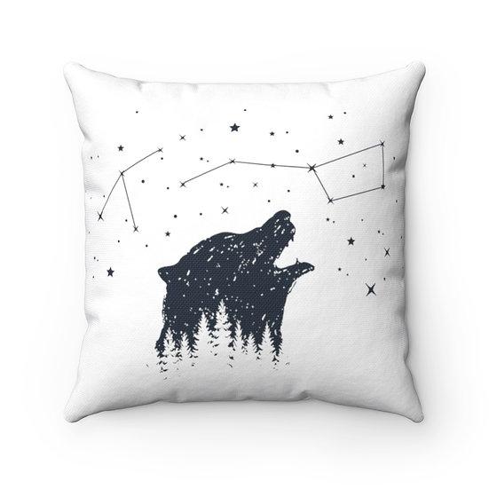 Big Dipper Bear Spun Polyester Square Pillow