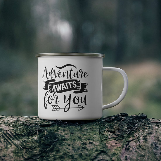 Adventure Awaits For You Enamel Camping Mug