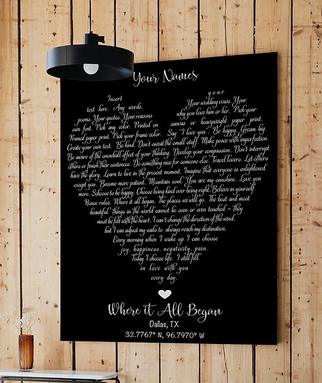 Anniversary Gifts For Couple, First Dance Song Wall Art
