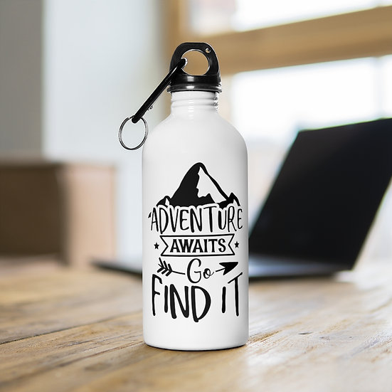 Adventure Awaits Go Find It Stainless Steel Water Bottle