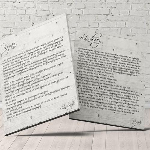 Wedding Vows Sets | United States | AJ Canvas Prints