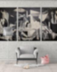 Spain Guernica 3 panels canvas wall art_