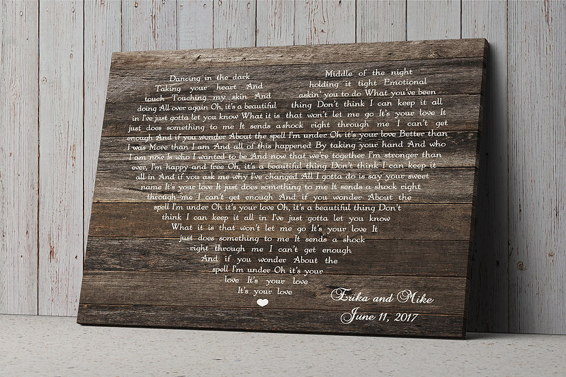 Personalized Rustic Anniversary Gifts For Couple