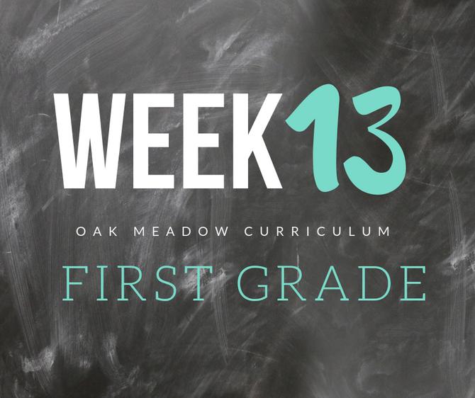 Homeschooling - 1st Grade Week 13 Oak Meadow Curriculum Supplements