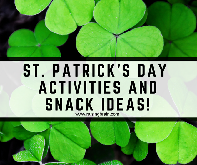 St. Patrick's Day Activities and Snack Ideas!