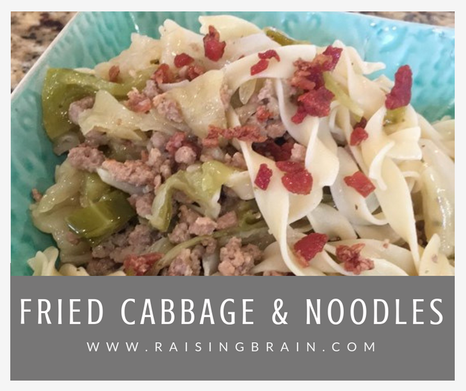 Fried Cabbage and Noodles