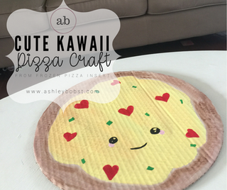 Kawaii Pizza Craft, from Frozen Pizza Cardboard!