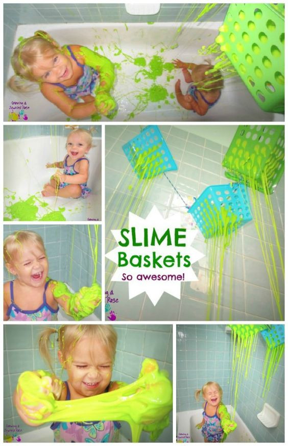Slime Baskets!! Growing a Jeweled Rose shares ther recipe for this messy fun!