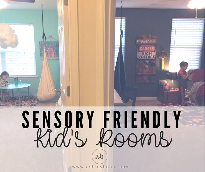 Sensory Friendly Kid's Rooms & Sensory Diet Ideas for On the Go!