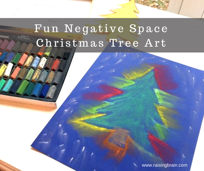 Fun Negative Space Christmas Tree Art