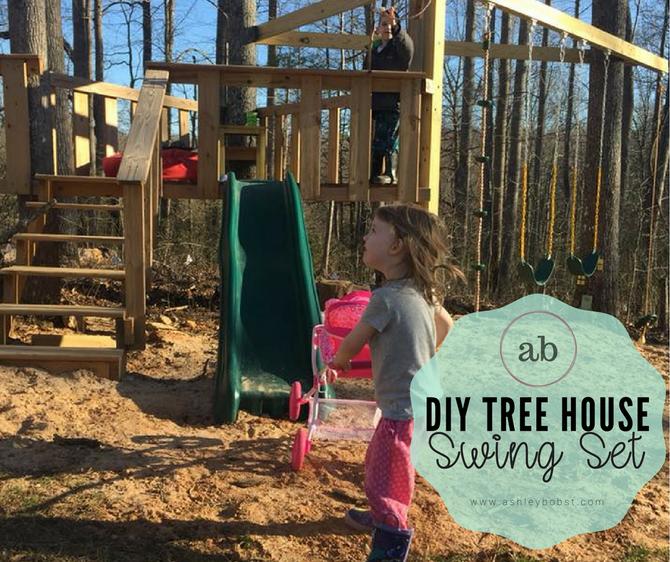 DIY Tree House Swing set