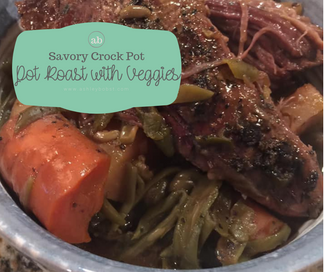Beef Pot Roast with Carrots, Potatoes, & Green Beans