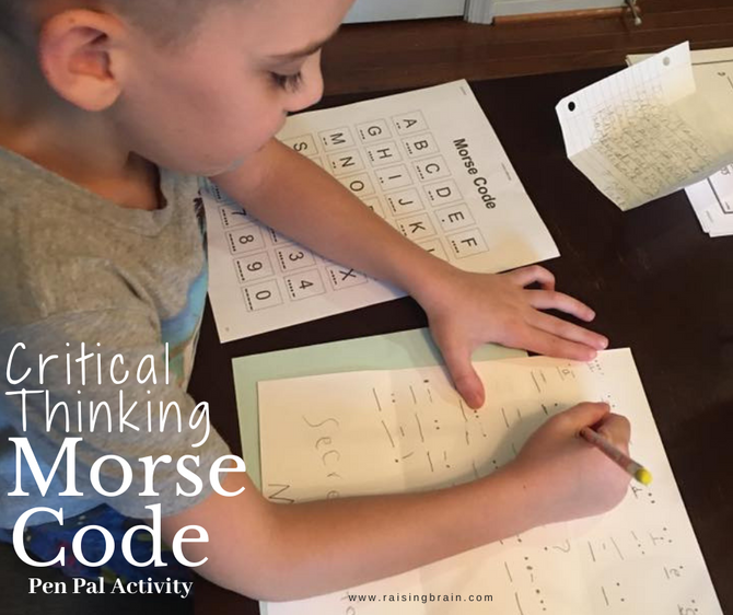 Critical Thinking Morse Code Pen Pal Activity