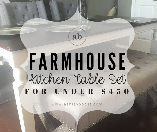 Custom Farmhouse Kitchen Table Set for less than $450!