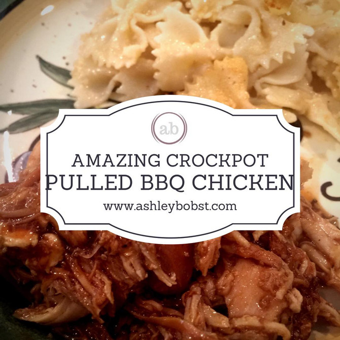 AMAZING Crockpot Pulled BBQ Chicken