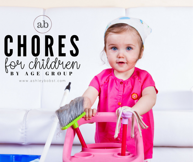 Chores for Children by Age Group *Free Printables*