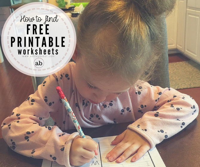 How to Find Free Printable Worksheets!