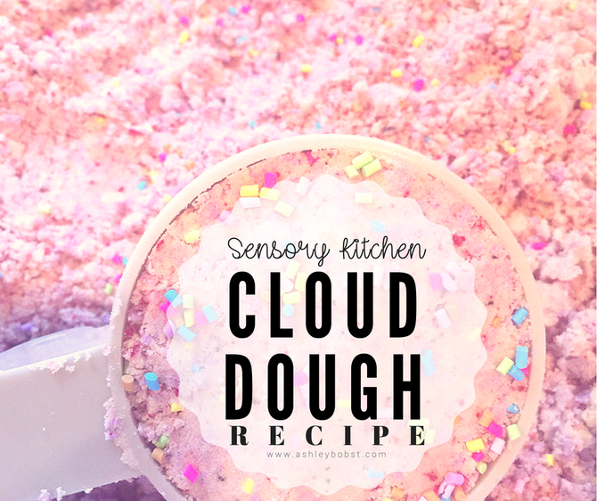 DIY Sensory Kitchen: Cloud Dough
