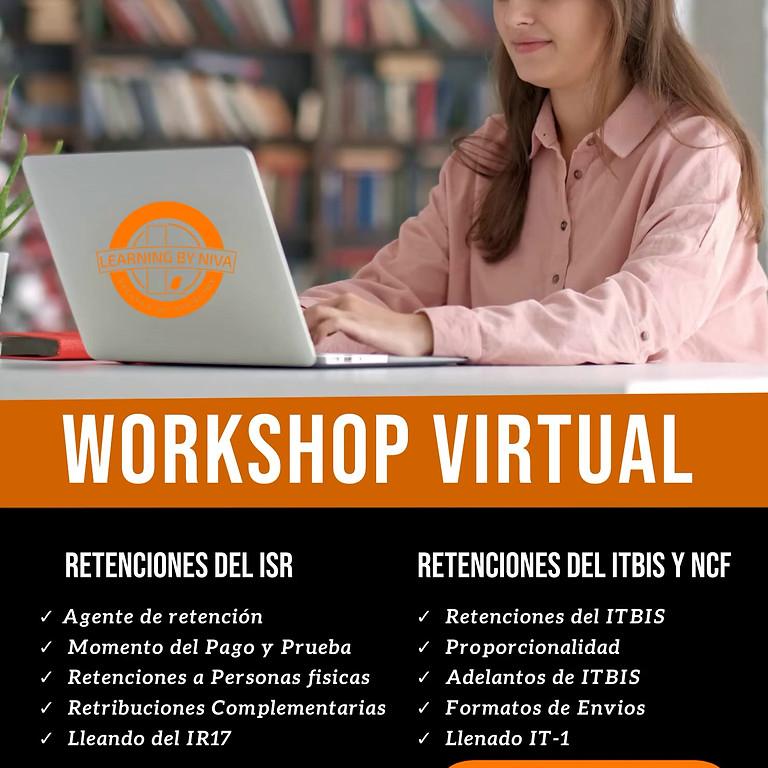 WORSHOP VIRTUAL RETENCIONES DEL ISR, ITBIS Y USO DE NCF