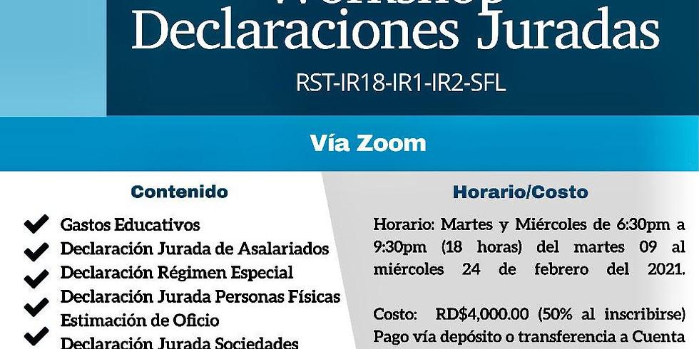WORSHOP DECLARACIONES JURADAS