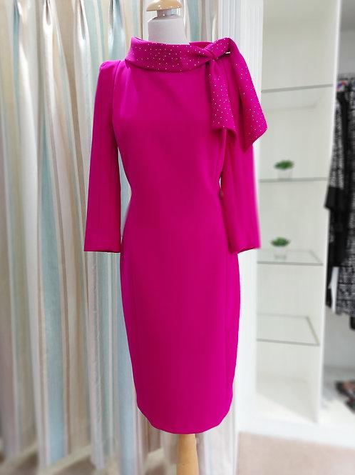 Luis Civit - Magenta dress with neck details