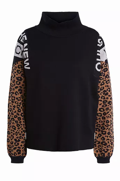 Oui - Black with tan animal sleeves