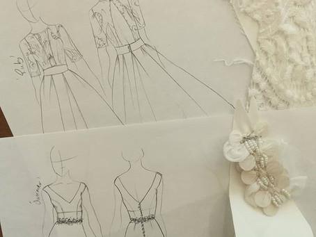 Bridal designer at work
