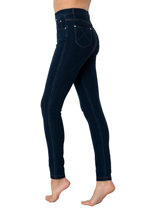 Marble -  navy high rise stretch jeans