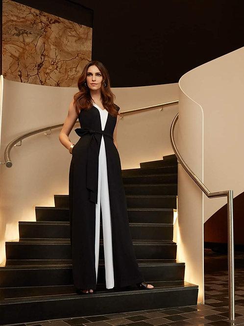 Joseph Ribkoff Elegant Black & White Jumpsuit
