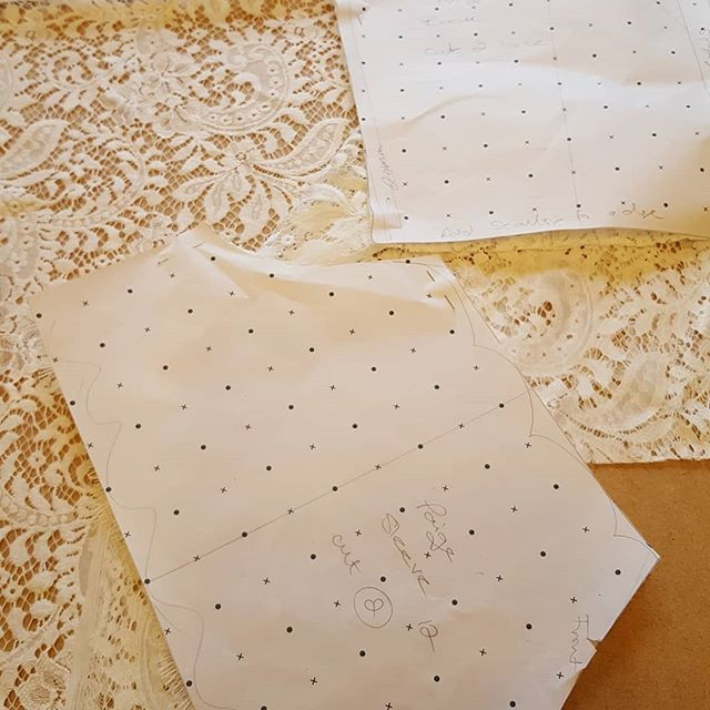 A pattern in work ready to be cut out