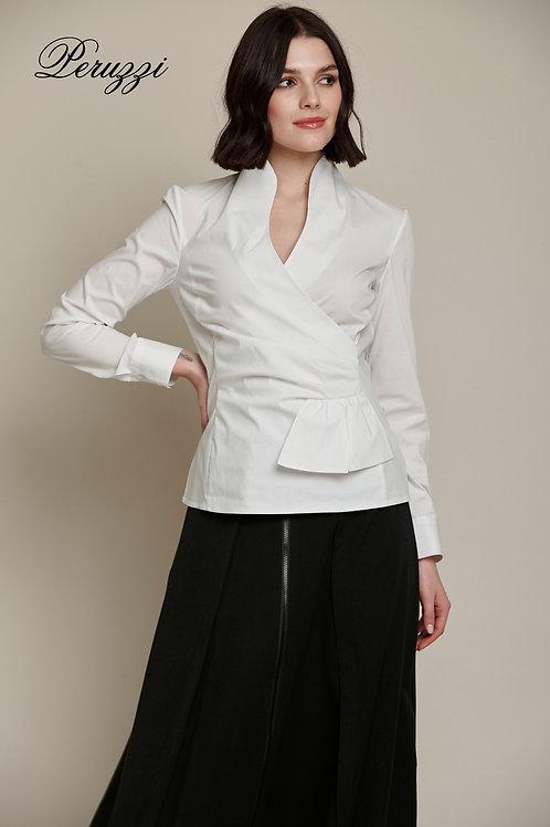 Peruzzi - White rouched shirt