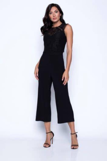 Frank Lyman - Black lace and jersey Jumpsuit