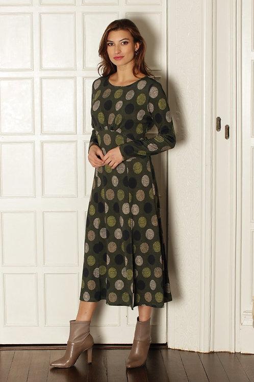 Pomodoro - Khaki printed dress