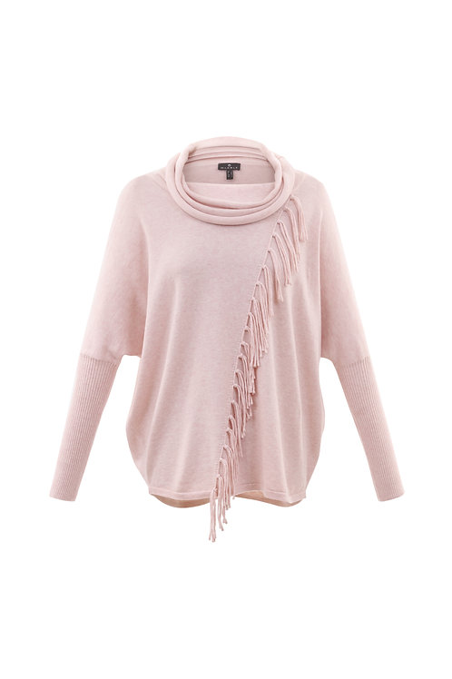 Marble -  Cotton jumper in soft pink with tassel from design.