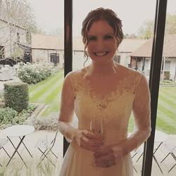 Rachel wearing a Lara B Couture dress
