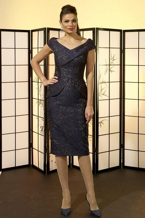 Irresistible- Navy fitted peplum dress