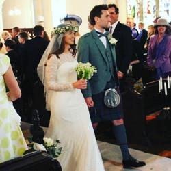 Katie wearing a Jesus Peiro dress