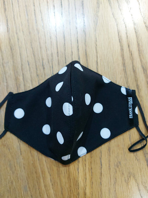 Frank Lyman - Black white polka dot  washable masks